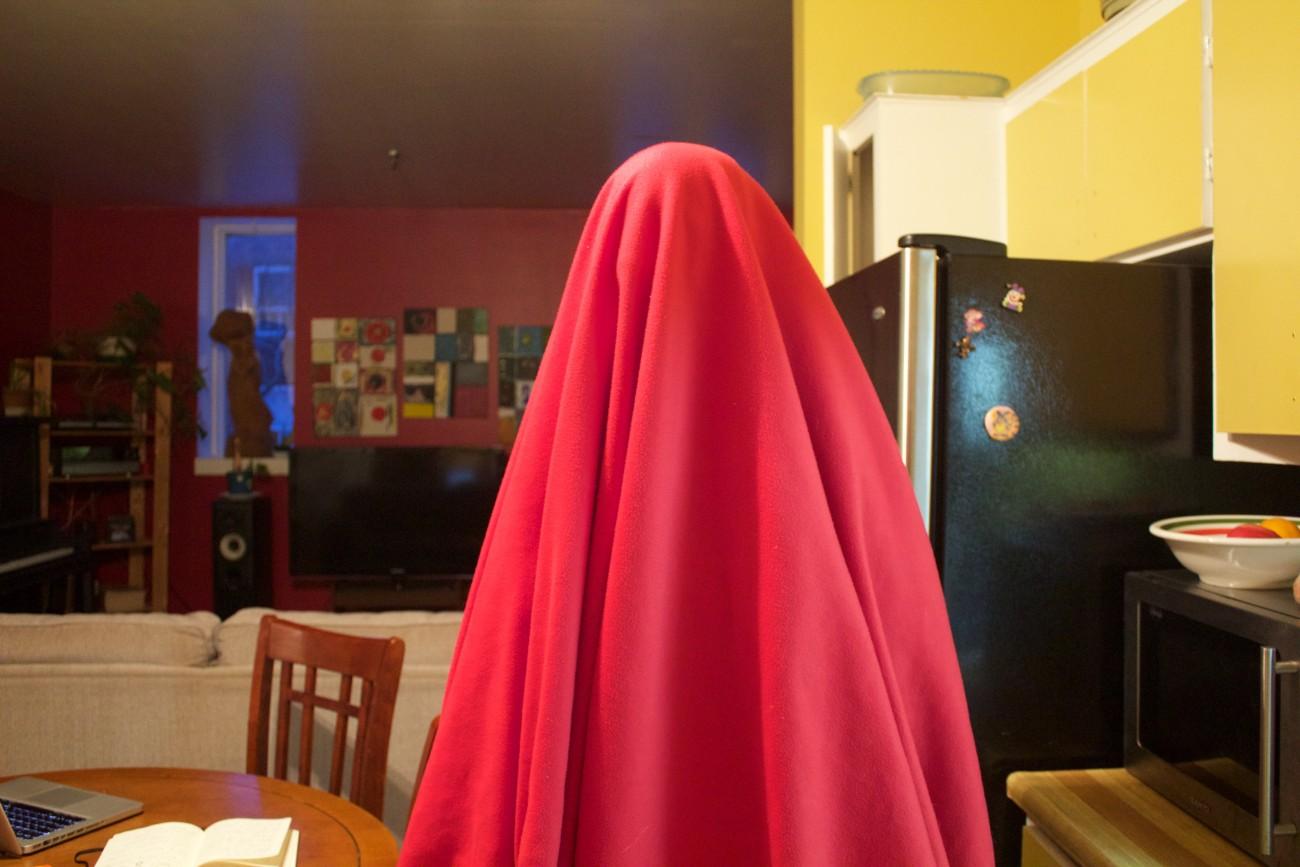 Steve Giasson. Performance invisible n° 32 (Voir rouge). Performeur : Anonyme. Crédit photographique : Anonyme. Mars 2017.